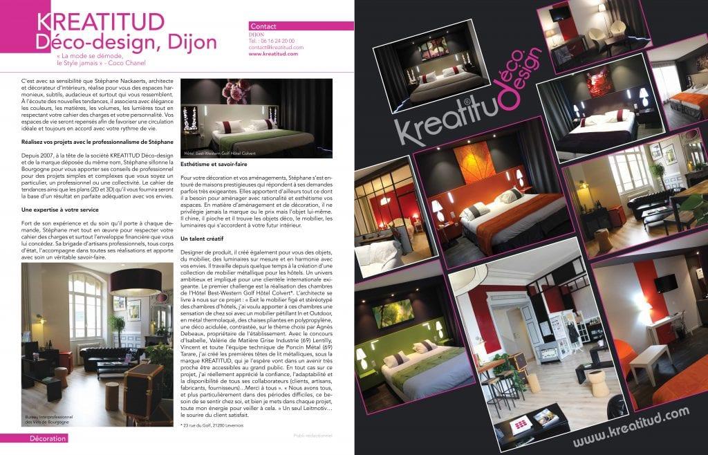 Maison actuelle magazine article de presse kréatitud Dijon