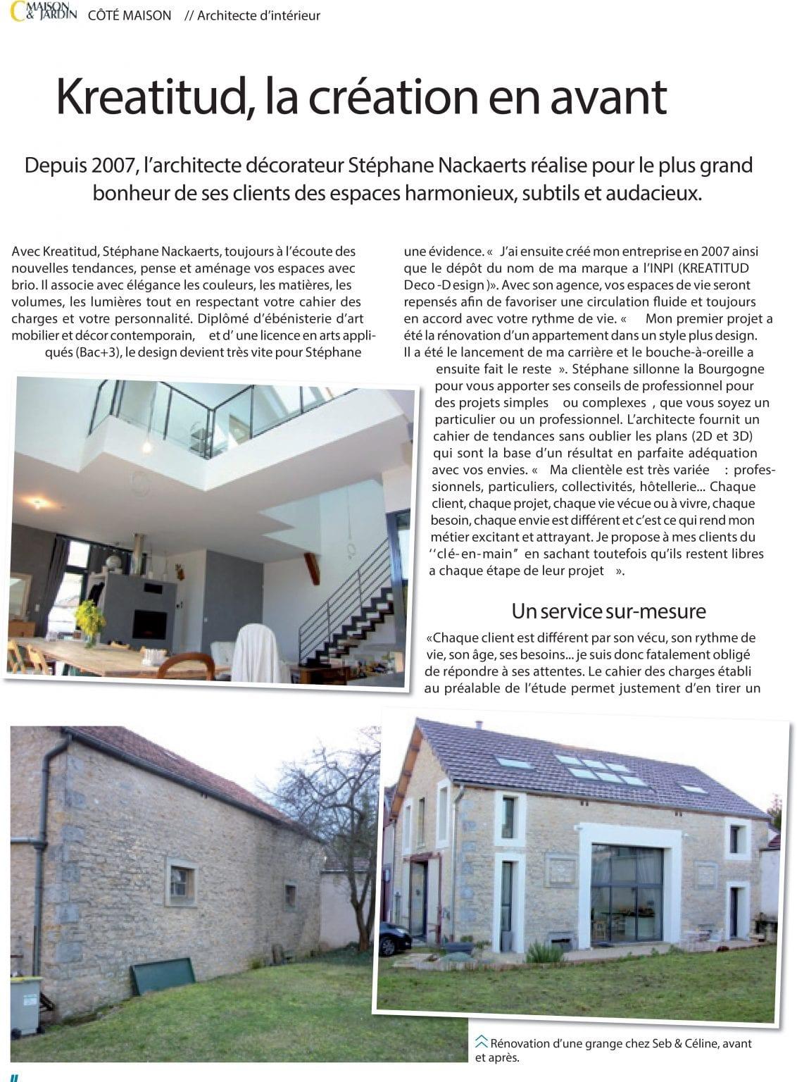 page 1 maison et jardin magazine kréatitud Dijon